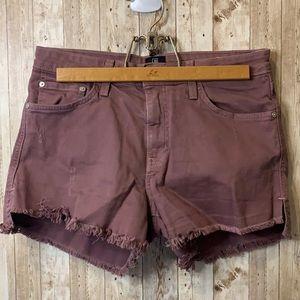 Sale ♻️ Just Black Purple Cut Off Shorts